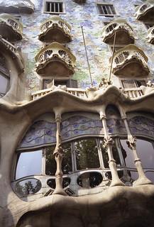 A Gaudi building in Barcelona