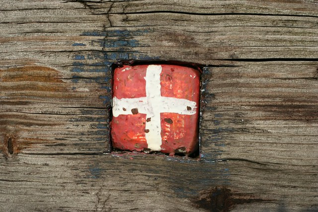 Danish Flag painted on Bolt, Copenhagen