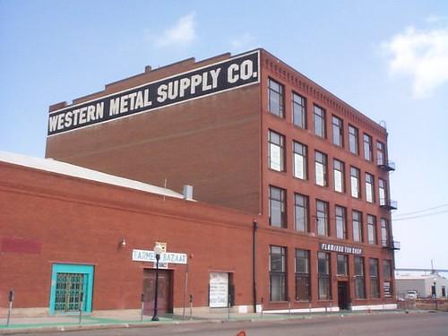 Western Metal Supply Building Before Petco Park Was Built