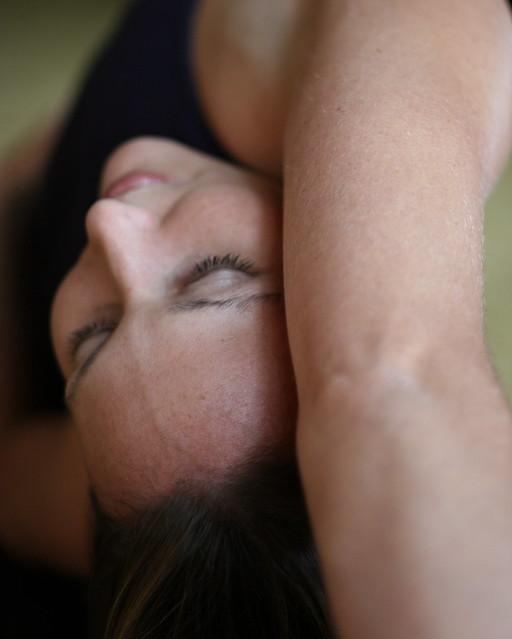 Emily doing yoga