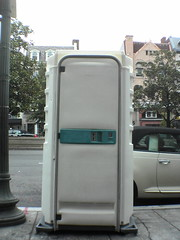 automotive exterior, vehicle, public toilet, portable toilet, door,