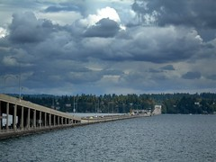 520 floating bridge across Lake Washington