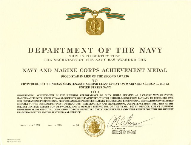 1998 Navy and Marine Corps Achievement Medal 2nd  Flickr