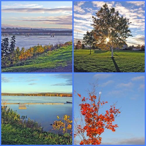 mosaic autumn river scenic 2005 sunrise moon fall colors water morning photowalk