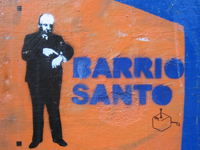 Barrio graffiti street art