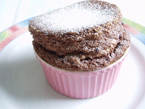 Hot Chocolate Soufflé with Chocolate Sauce 001