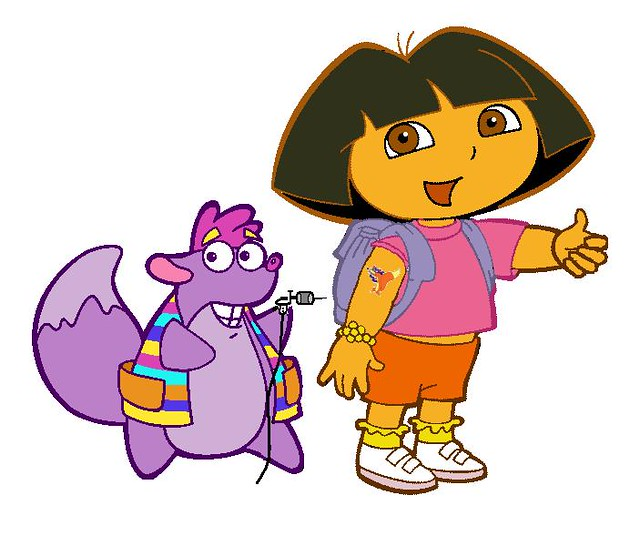 Dora gets a tattoo! | Flickr - Photo Sharing!