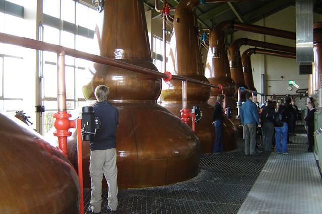 stills at clynelish distillery