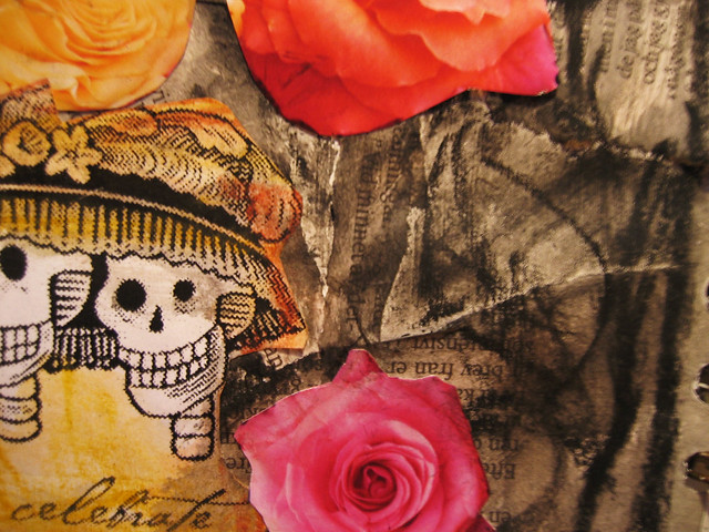 Detail of Dia de los Muertos collage