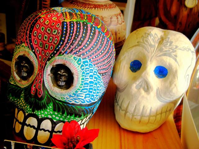 Painted skulls Dia de Los Muertos