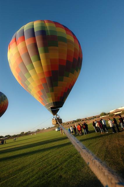 Balloon is teathered!