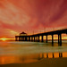 Sunset - Manhattan Pier, California by Mc Shutter