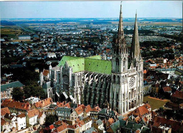 Chartres Cathedral in Chartres, France (Northern facade)