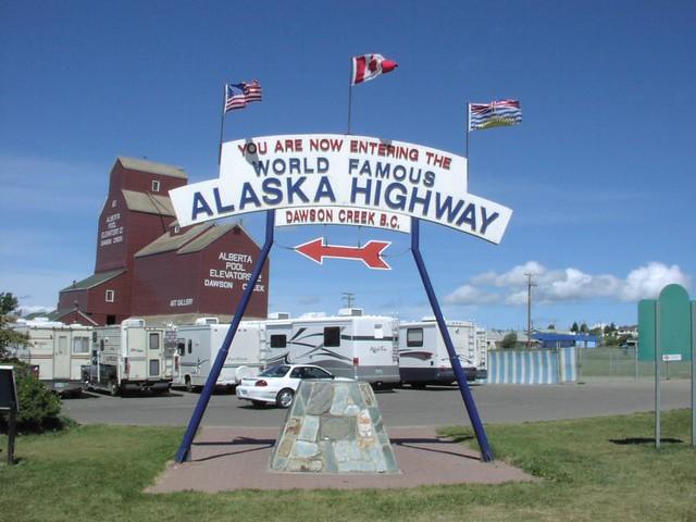 Alaska Highway Milepost Zero