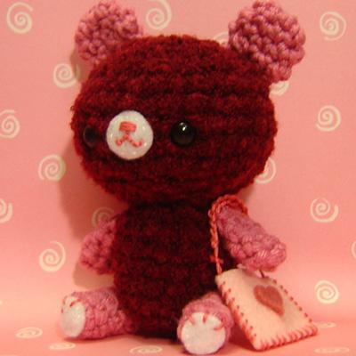 Amigurumi Valentine Bear w/ heart pouch Flickr - Photo ...