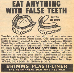 EAT ANYTHING WITH FALSE TEETH