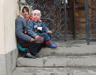 Romani Mother and Child