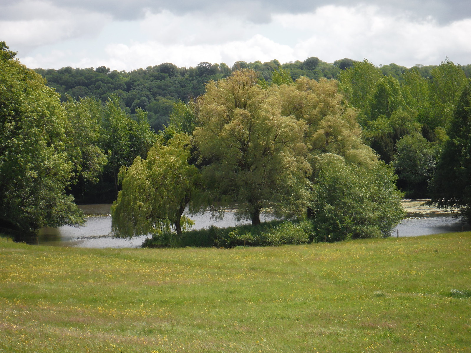 Lake in Dinton Park SWC Walk 249 Tisbury Circular via Dinton and Fovant