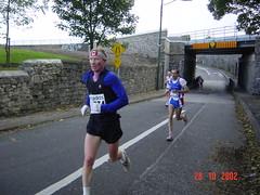 Tim Smyth Eagle AC on his way to a marathon pb, Dublin 2002 embrace the pain