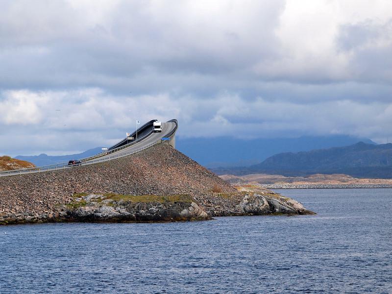 Storseisundet Bridge on the Atlantic Road in Norway