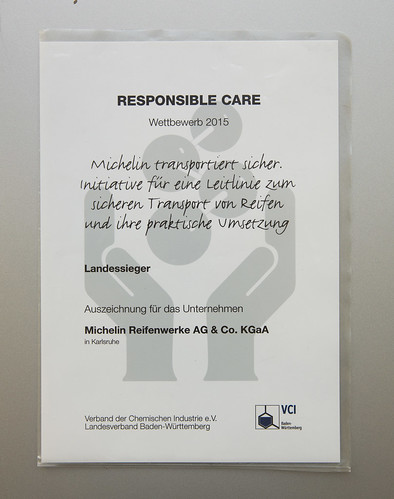 Michelin ausgezeichnet | Responsible Care Preis 2015