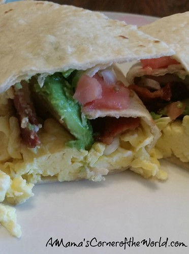 Bacon Avocado Egg Breakfast Wrap