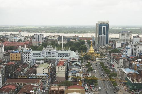 【写真】世界一周 : ヤンゴン・市街地(サクラタワーより)