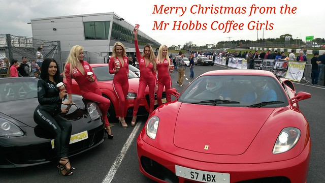 Merry Christmas to you all, from the Mr Hobbs Coffee Promo Girls, hope to see a few of you at some Motor Shows in 2017