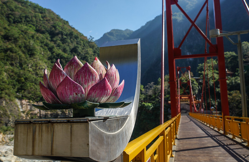 Flower bridge luonnonpuisto national park silta flower kukkka Taroko