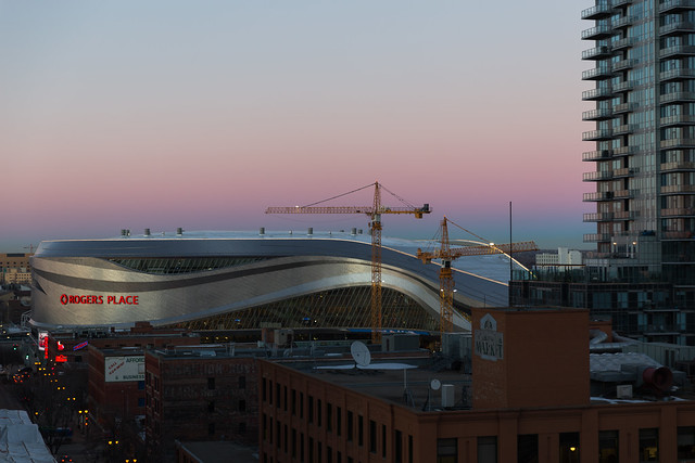 Rogers Place at Sunset
