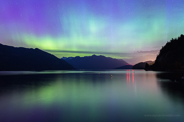 Vancouver Northern Lights at Porteau Cove