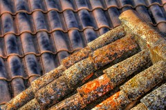 Olvera - old roof tiles
