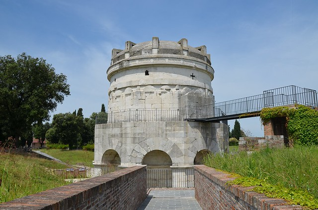 Mausoleum of Theoderic, built in 520 AD by Theoderic the Great as his future tomb, Ravenna, Italy