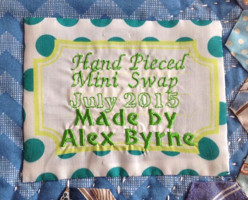 Machine Embroidered Quilt Label