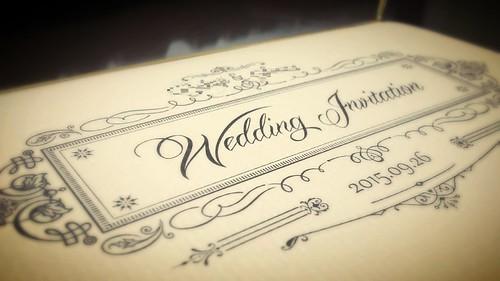 手作り招待状の表紙