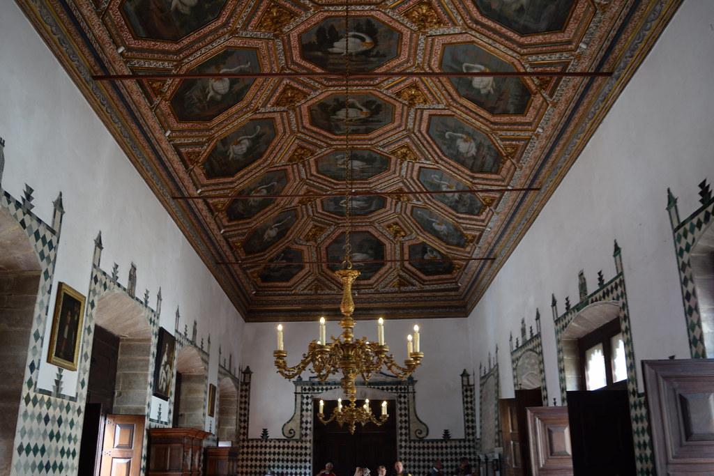 Swan Room, Palacio Nacional de Sintra, Sintra National Palace, Portugal