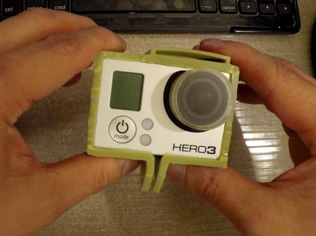GoPro Frame in 3DM XSeries (XGreen) Resin
