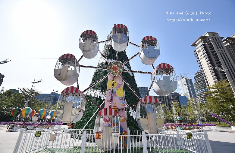 台中市府廣場耶誕夜遊樂園11
