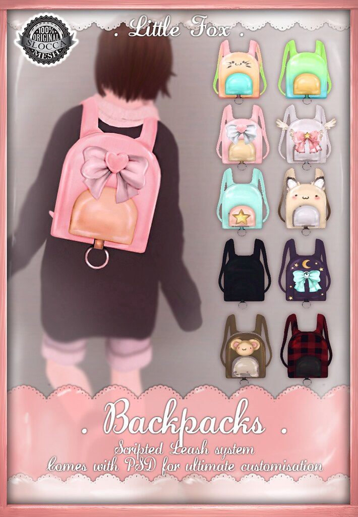 . Little Fox . Backpacks - SecondLifeHub.com