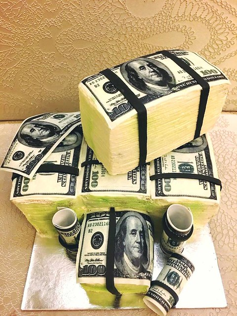Dollar Themed Cake by Get Baked