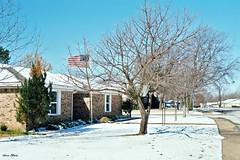 Neighborhood in Snow, North Richland Hills