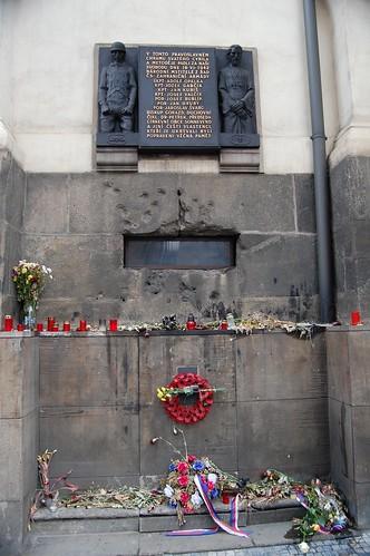 Homenaje a la resistencia Checa en la segunda guerra mundial