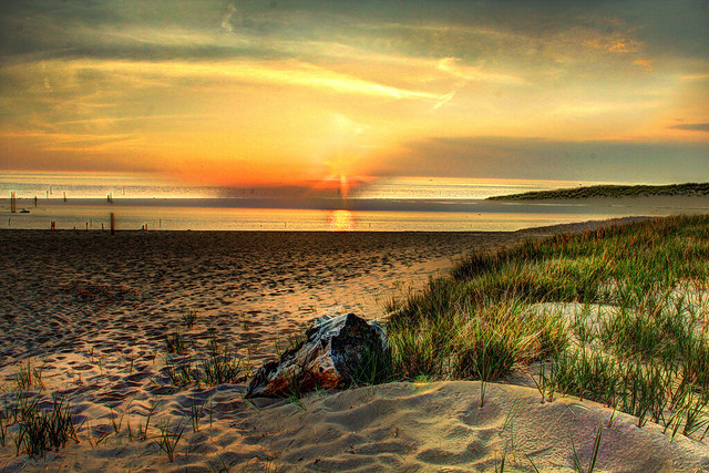 Holland Beach Sunset HDR