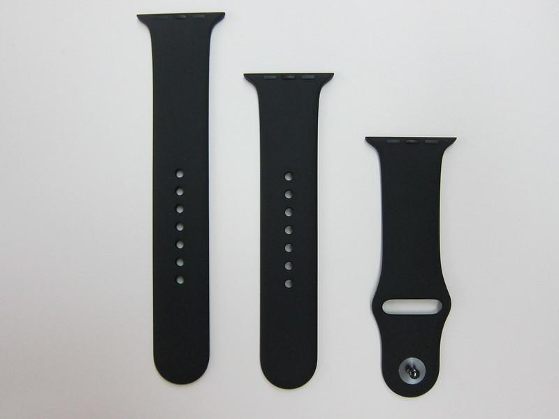 Apple Watch 42mm Black Sport Band - Strap Back