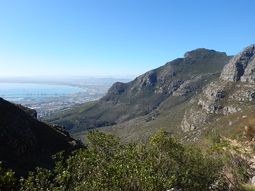 View of Table Bay from Platteklip Gorge Trail, Table Mountain