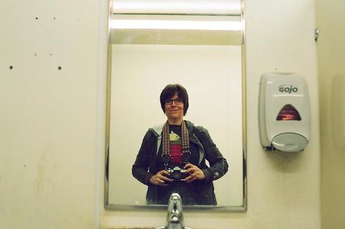Bathroom Mirror Self-Portrait