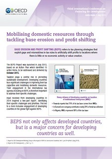 Mobilising domestic resources through tackling base erosion and profit shifting