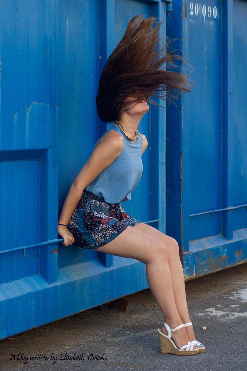 falda azul STRADIVARIUS HEELSANDROSES (9)