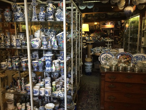Delftware porcelain shop, Amsterdam