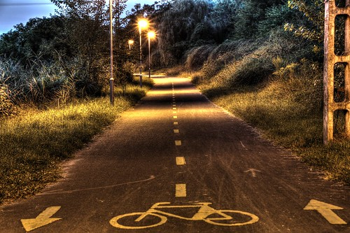 light sunset bicycle night digital canon eos outdoor path budapest route hdr 70d